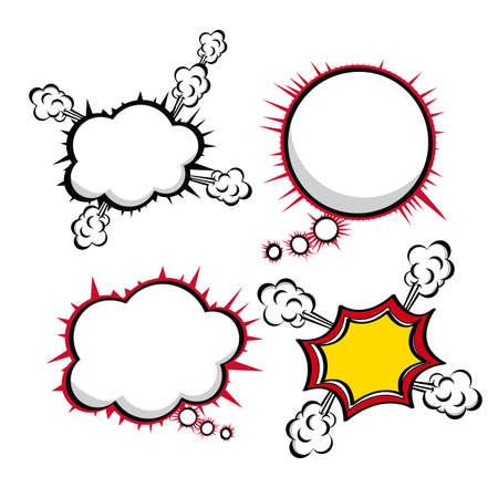white bacground: iconos c�micos m�s fundamento blanco ilustraci�n vectorial