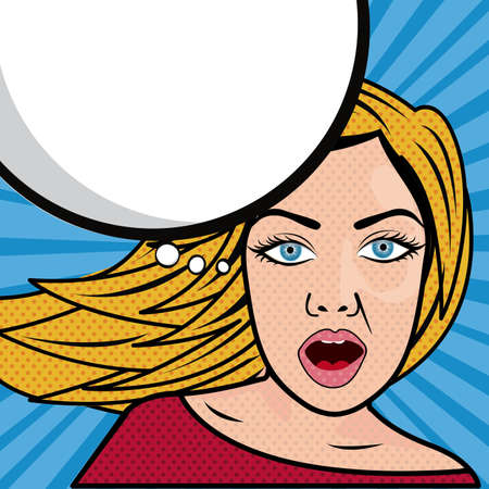 woman comics over white background vector illustration  Vector