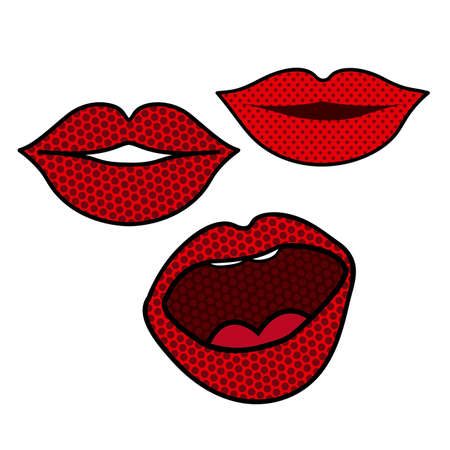 mouth design over dotted background vector illustration Vector