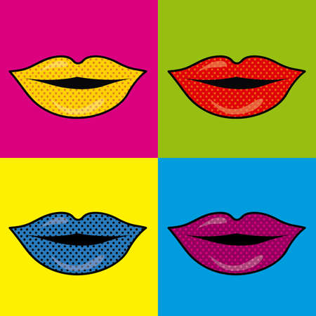 mouth design over colrful background vector illustration  Vector