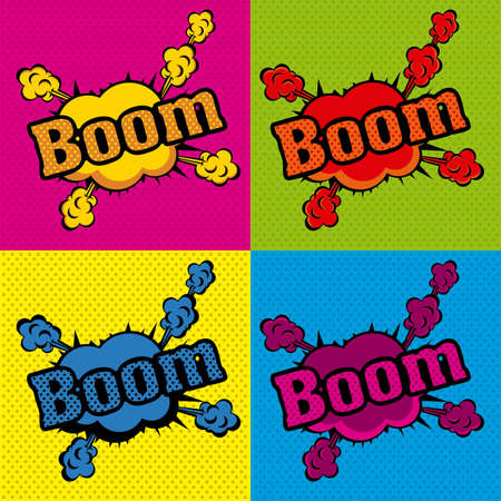 boom comics icons  over colorful  background vector illustration  Stock Vector - 20192479