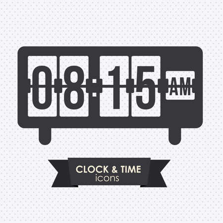 o'clock: clock and time icon over white background vector illustration