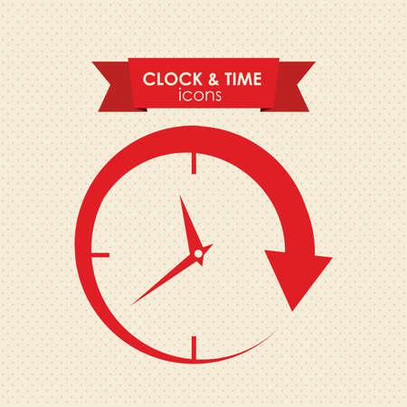 reloj antiguo: reloj y la hora icono sobre fondo blanco ilustración vectorial Vectores