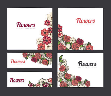 flower design over black background vector illustration  Vector