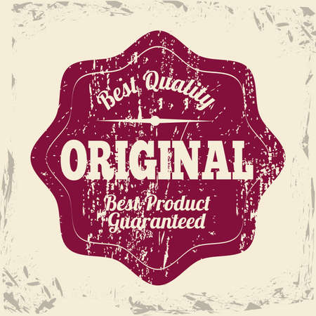 original seal over vintage background vector illustration  Vector