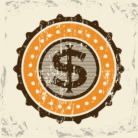 weight sign seal over vintage background illustration Vector