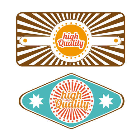 high quality labels over white background illustration  Vector