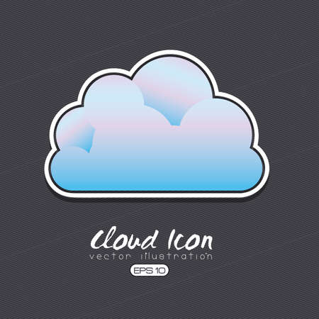 cloud icon design over gray background illustration  Vector