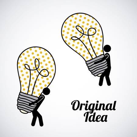 original idea: original idea over gray background