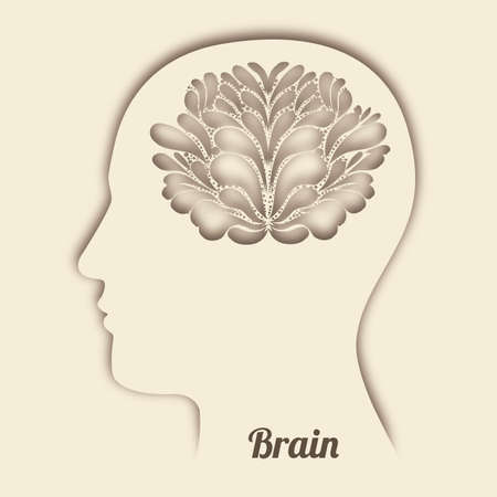 brain design over pink background Stock Vector - 20546024