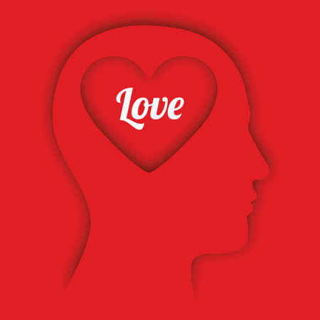 love design over red background Vector