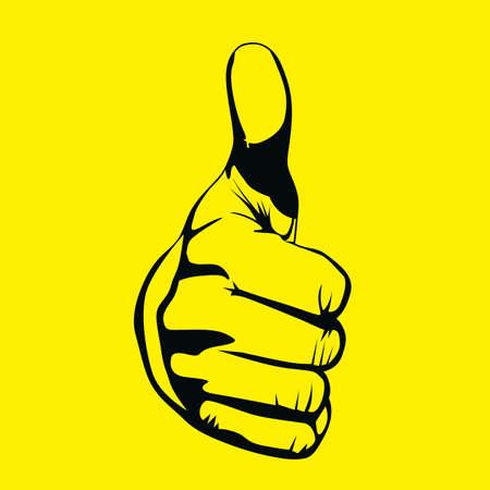 ok design over yellow background Vector