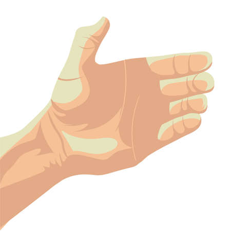 nonverbal: hand design over brown background vector illustration  Illustration
