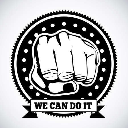we can do it seal over gray background Vector