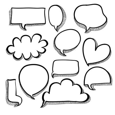 bubbles icons over white background Vector