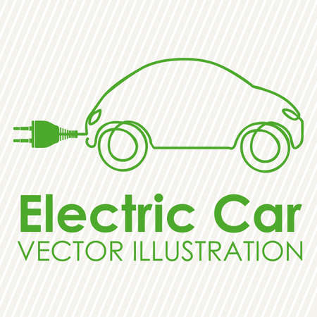 electric utility: electric car design over white background