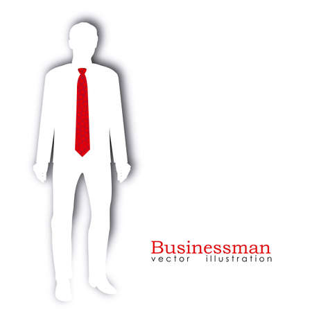 businessman silhouette over white background Stock Vector - 20546109