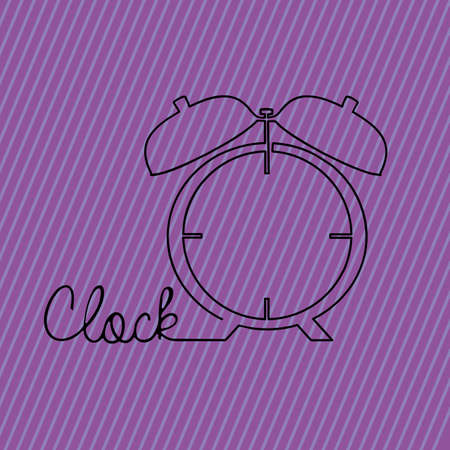 clock alarm over purple background Stock Vector - 20546241