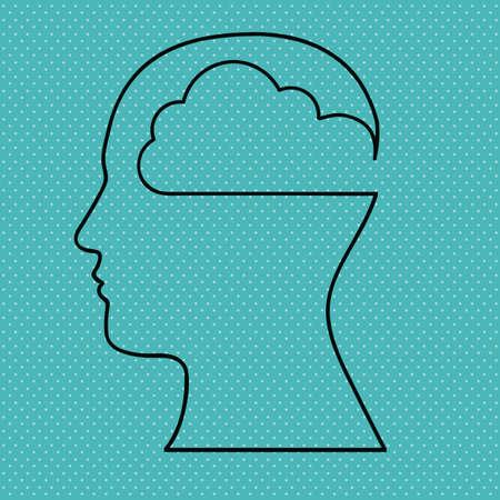 skulp: brain design over dotted background