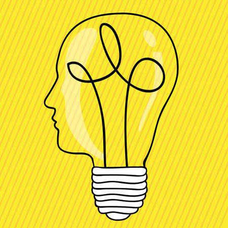prodigy: brain design over yellow background