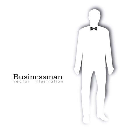 businessman silhouette over white background Stock Vector - 20546099