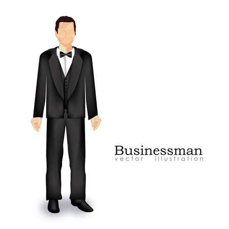 businessman silhouette over white background Stock Vector - 20546034