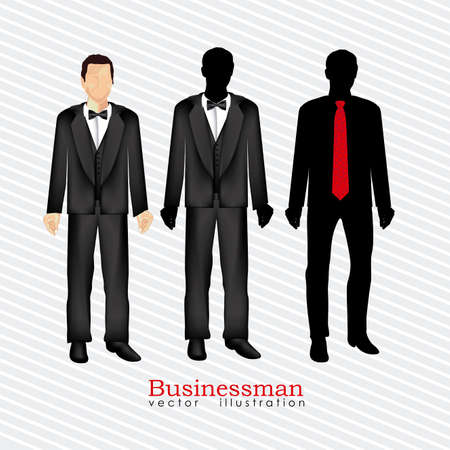 businessman silhouette over white background Stock Vector - 20546030