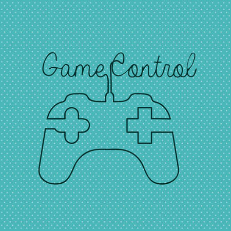 game controls over blue background Stock Vector - 20546032
