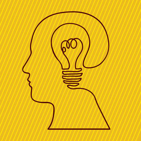 skulp: idea design over yellow background