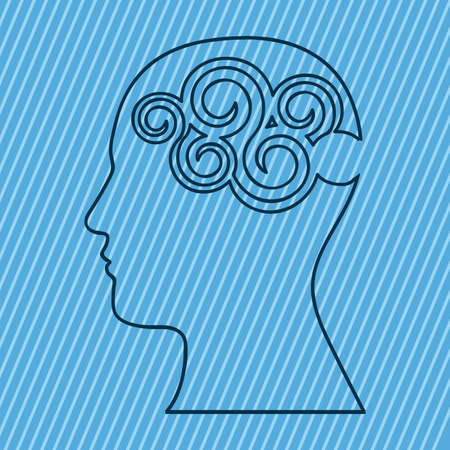 prodigy: brain design over blue background