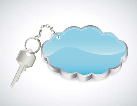 key chain over gray background Vector
