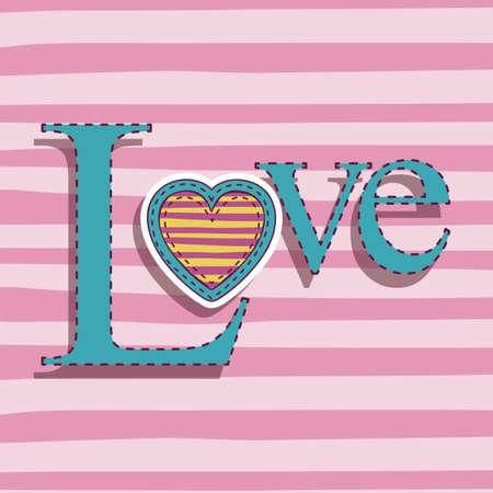 love design over pink background Vector