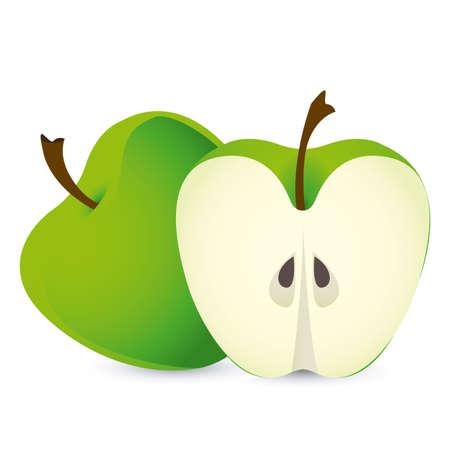 apple design over white background Vector