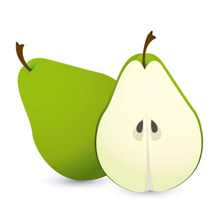 soothing: pear design over white background