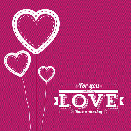love design over fuchsia background Vector