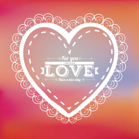 heart design over degraded color background Vector