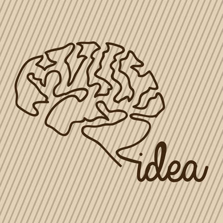 idea design over beige background Vector