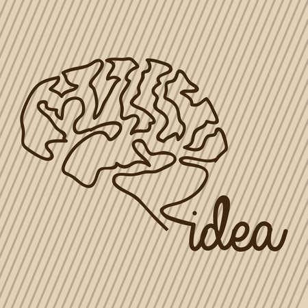 skulp: idea design over beige background Illustration