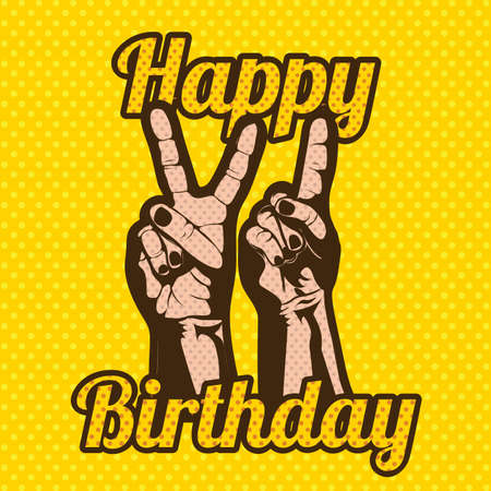 happy birthday design over grunge background Vector