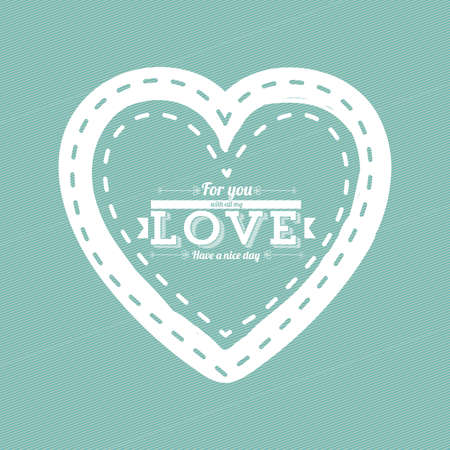 heart design over blue background Vector