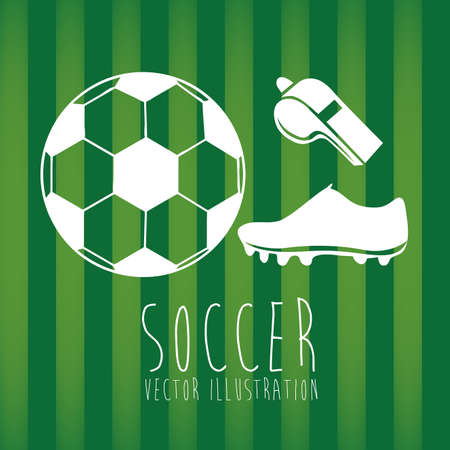 soccer design over green background illustration Vector