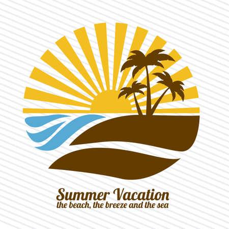 arboles de caricatura: vacaciones de verano m�s lineal ilustraci�n de fondo