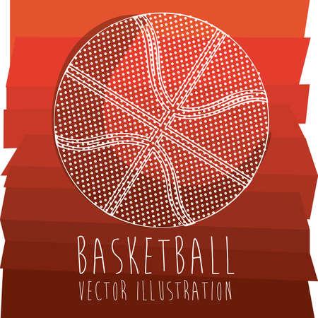 basketball design over orange background illustration  Vector