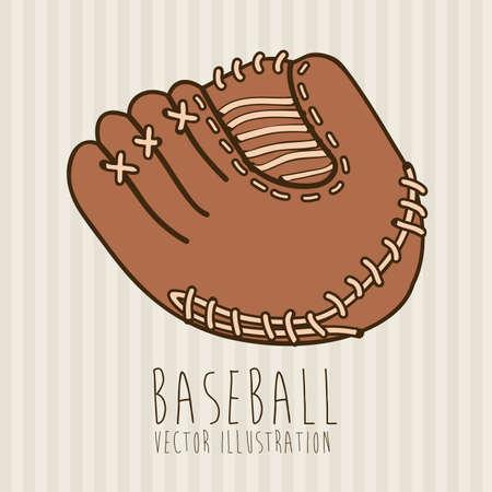 guante de beisbol: etiqueta de béisbol más lineal ilustración de fondo