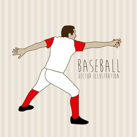struck: baseball design over lineal background vector illustration
