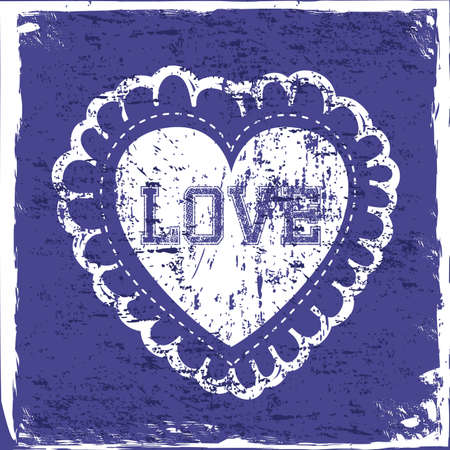 love hearts over blue background vector illustration  Vector