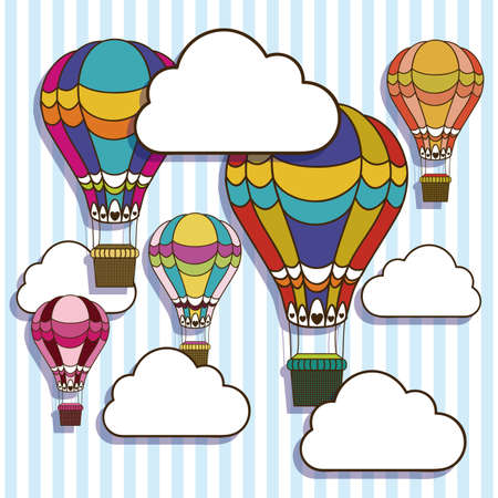 balloons design over lineal background vector illustration