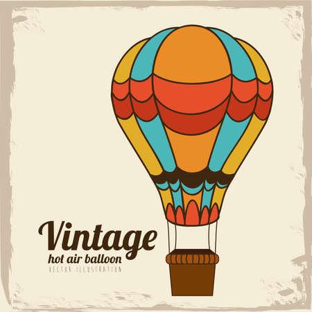 balloon design over vintage background vector illustration