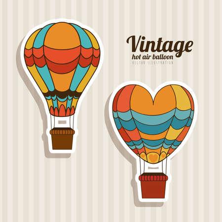 balloons design over vintage background vector illustration Stok Fotoğraf - 20962202