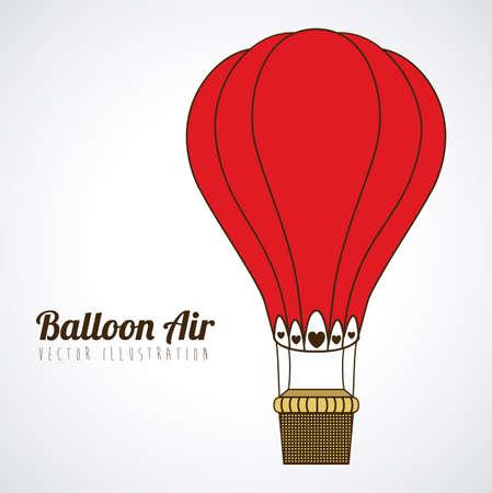 balloon design over gray background vector illustration Çizim